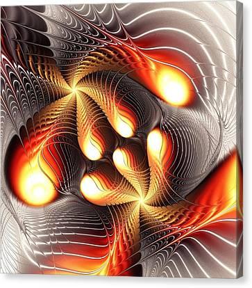 Playing Dragons Canvas Print by Anastasiya Malakhova