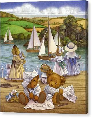 Playing Pirates I Canvas Print by Carol Lawson