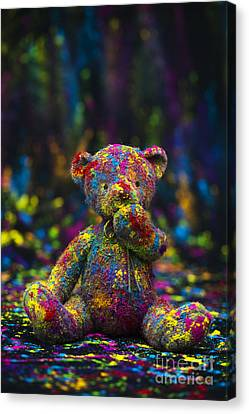 Playing With Coloured Powder Canvas Print by Tim Gainey