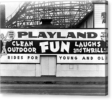 Playland At The Beach Canvas Print by Underwood Archives