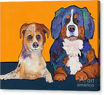 Playmates Canvas Print by Pat Saunders-White
