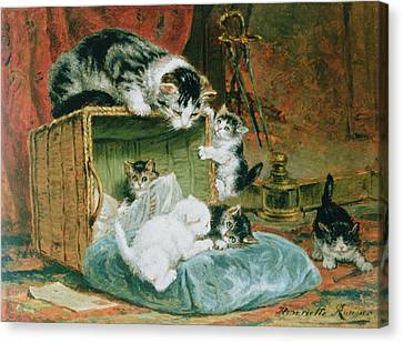 Playtime Canvas Print by Henriette Ronner-Knip