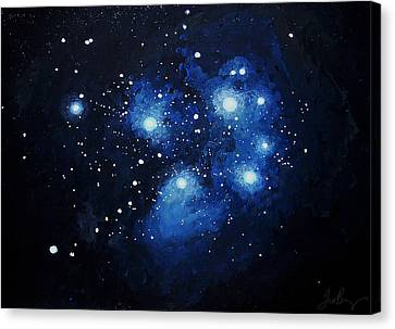 Pleiades The Seven Sisters Canvas Print by Timothy Benz