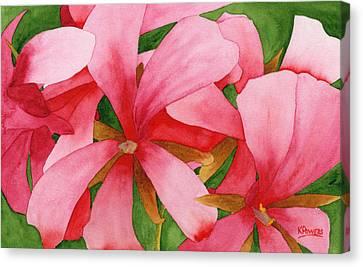 Plein Air Flowers Canvas Print by Ken Powers