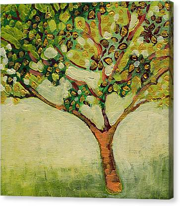 Plein Air Garden Series No 8 Canvas Print by Jennifer Lommers