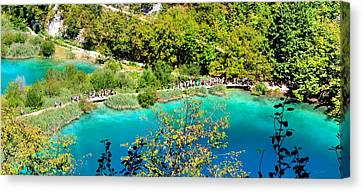 Plitvice Lakes Croatia Canvas Print by Julia Fine Art And Photography