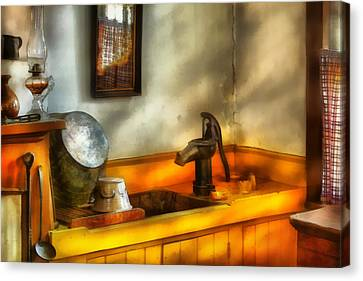 Plumber - The Wash Basin Canvas Print by Mike Savad