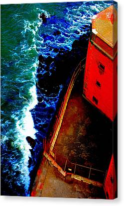 Plunging From Golden Gate Canvas Print by Holly Blunkall