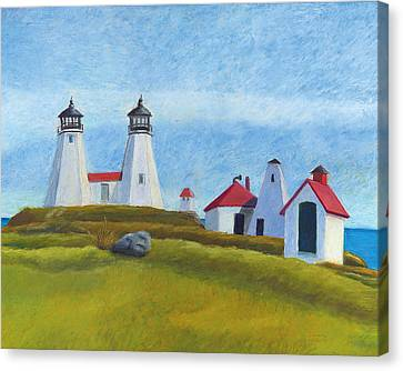 Plymouth Light Station Before 1924 Canvas Print by Dominic White