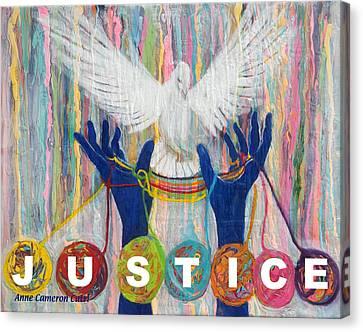 Pms 20 Justice Canvas Print by Anne Cameron Cutri