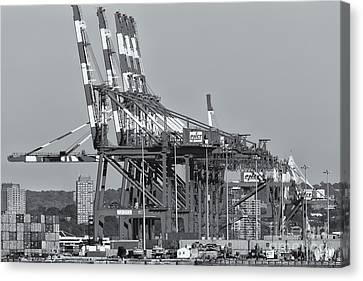 Pnct Facility In Port Newark-elizabeth Marine Terminal II Canvas Print by Clarence Holmes