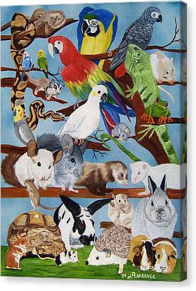 Pocket Pets Canvas Print by Debbie LaFrance