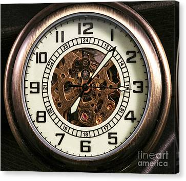 Pocket Watch Canvas Print by John Rizzuto
