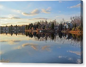 Pocono Summit Lake Canvas Print by Gary Keesler