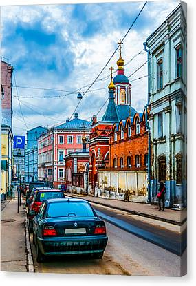 Podkolokolny Lane Of Moscow 2 Canvas Print by Alexander Senin