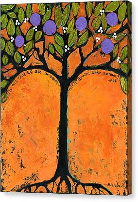 Poe Tree Art Canvas Print by Blenda Studio