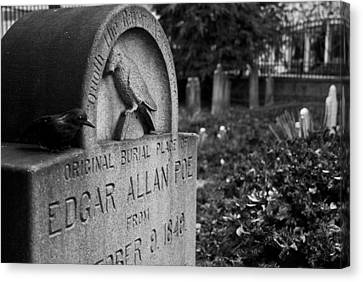 Poe's Original Grave Canvas Print by Jennifer Ancker