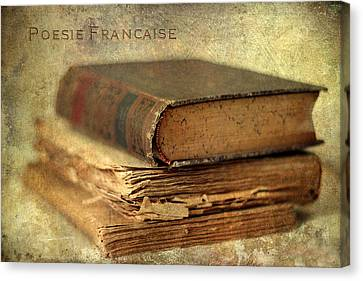 Poesie Francaise Canvas Print by Jessica Jenney