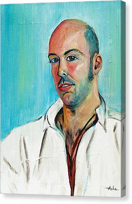Poet And Spontaneous Rapper Canvas Print by Asha Carolyn Young
