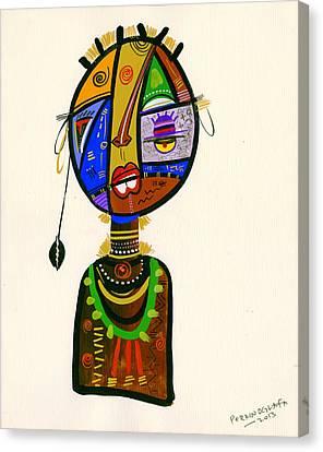 Poetic Faces Canvas Print by Oglafa Ebitari Perrin