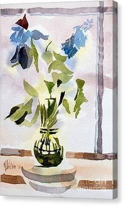 Poetry In The Window Canvas Print by Kip DeVore