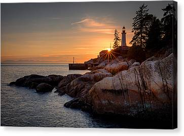 Point Atkinson Sunset Canvas Print by Alexis Birkill