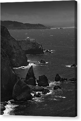 Point Bonita Light Canvas Print by Mike McGlothlen