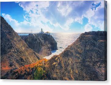 Point Bonita Lighthouse - Marin Headlands 2 Canvas Print by The  Vault - Jennifer Rondinelli Reilly