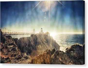 Point Bonita Lighthouse - Marin Headlands 3 Canvas Print by The  Vault - Jennifer Rondinelli Reilly