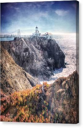 Point Bonita Lighthouse - Marin Headlands 5 Canvas Print by The  Vault - Jennifer Rondinelli Reilly