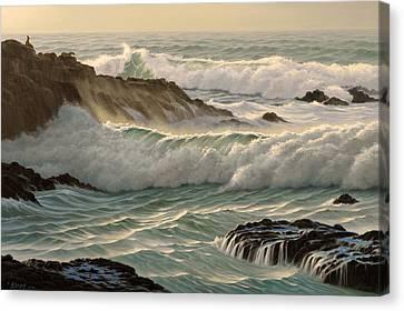 Point Lobos Seascape    Canvas Print by Paul Krapf