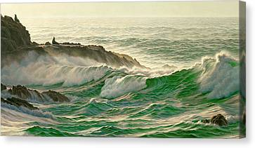 Point Lobos Surf Canvas Print by Paul Krapf