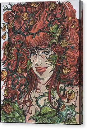Poision Ivy Lady Of The Autumn 01 Canvas Print by Simon Drohen