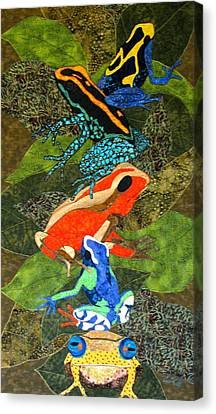 Poison Dart Frogs Canvas Print by Lynda K Boardman