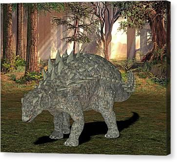 Polacanthus Dinosaur Canvas Print by Friedrich Saurer
