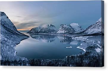 Polar Night Canvas Print by Tomasz Wozniak