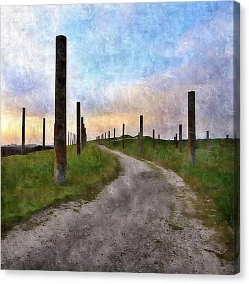 Pole Field Canvas Print by Anne Thurston