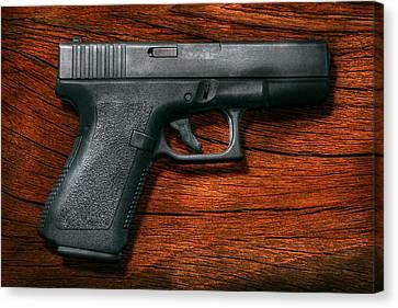Police - Gun - The Modern Gun  Canvas Print by Mike Savad