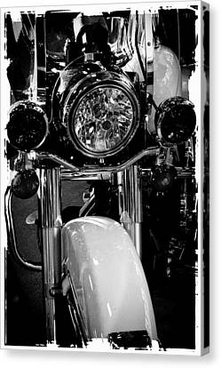 Police Harley II Canvas Print by David Patterson