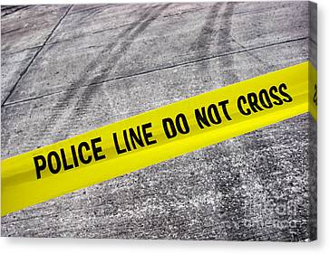 Police Line Canvas Print by Olivier Le Queinec