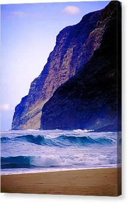 Polihale Beach Kauai Canvas Print by Kevin Smith