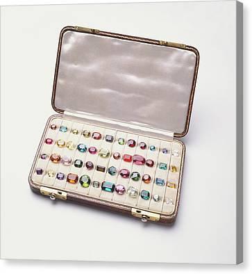Polished Gemstones Canvas Print by Dorling Kindersley/uig