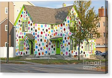 Polka Dot House Canvas Print by Steve Augustin