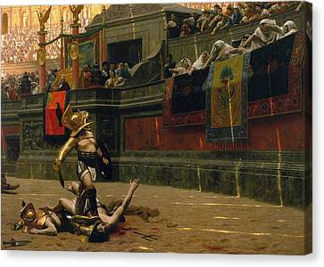 Pollice Verso Canvas Print by War Is Hell Store