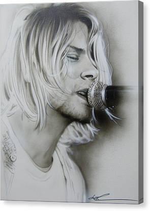 Kurt Cobain - 'polly' Canvas Print by Christian Chapman Art
