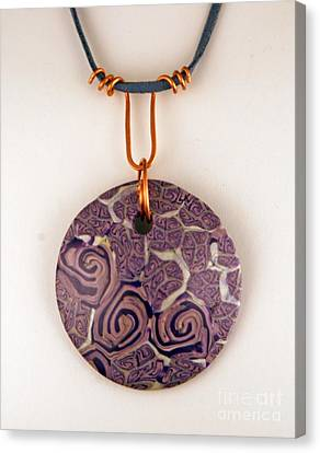 Polymer Clay Pendant Mc04211205 Canvas Print by P Russell