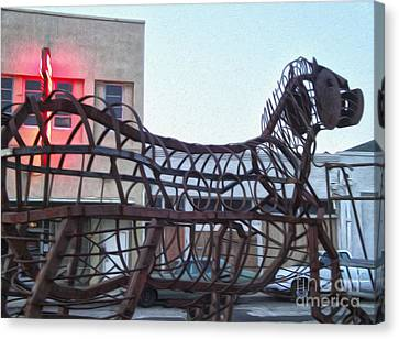 Pomona Art Walk - Metal Horse Canvas Print by Gregory Dyer