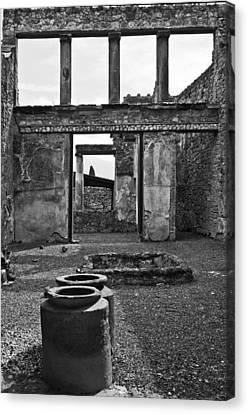 Pompeii Urns Canvas Print by Marion Galt