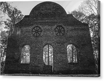 Pon Pon Chapel Of Ease 5 Bw Canvas Print by Steven  Taylor