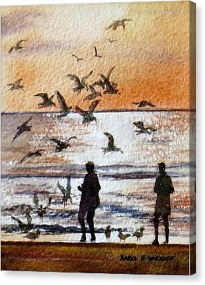 Ponce De Leon Dusk Canvas Print by Karol Wyckoff